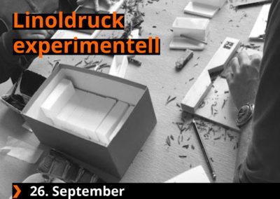 Linoldruck experimentell