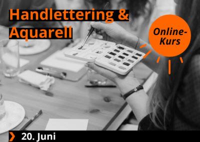 Handlettering & Aquarell